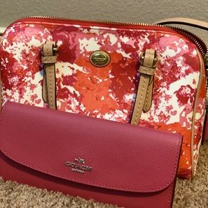 Coach Crossbody Purse and Wallet Set
